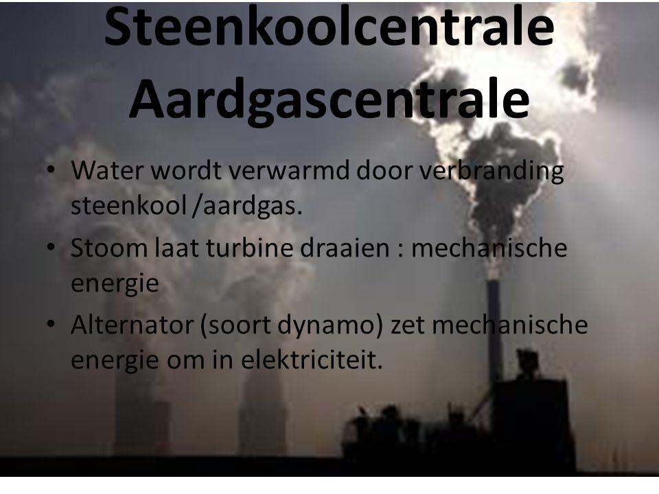 Steenkoolcentrale Aardgascentrale