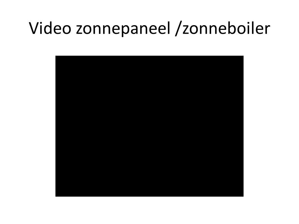 Video zonnepaneel /zonneboiler