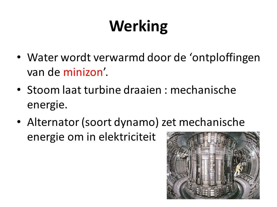 Werking Water wordt verwarmd door de 'ontploffingen van de minizon'.