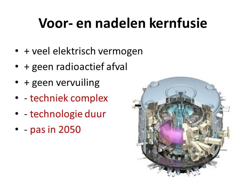 Voor- en nadelen kernfusie