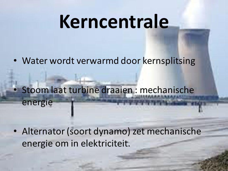 Kerncentrale Water wordt verwarmd door kernsplitsing
