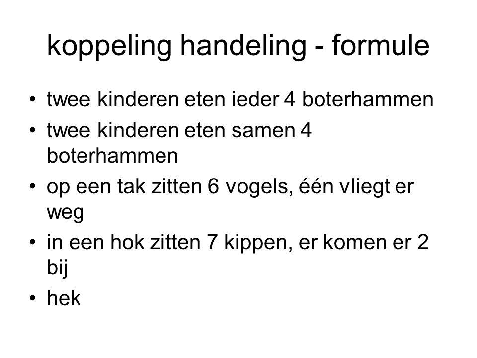 koppeling handeling - formule