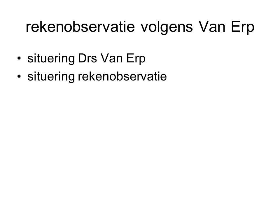 rekenobservatie volgens Van Erp
