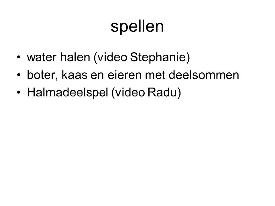 spellen water halen (video Stephanie)