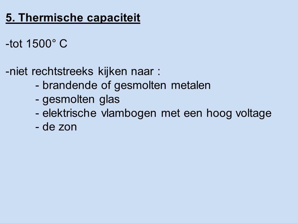 5. Thermische capaciteit