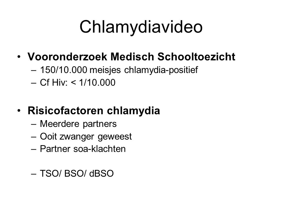Chlamydiavideo Vooronderzoek Medisch Schooltoezicht