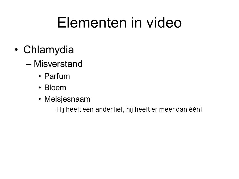 Elementen in video Chlamydia Misverstand Parfum Bloem Meisjesnaam