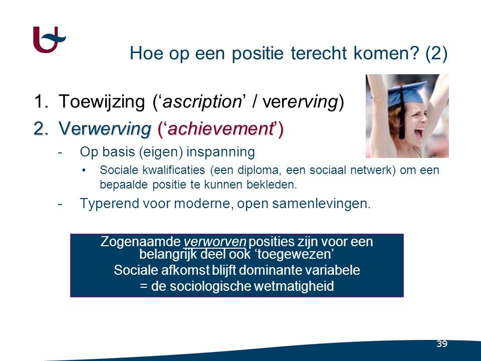 4.6 De sociale status