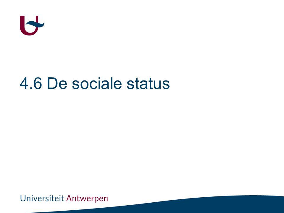 De sociale status De positie = statusbepalend