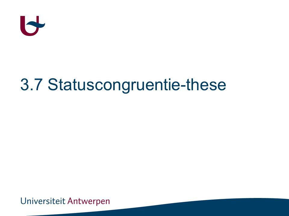 De status(in)congruentietheorie (stelling in de sociologie)