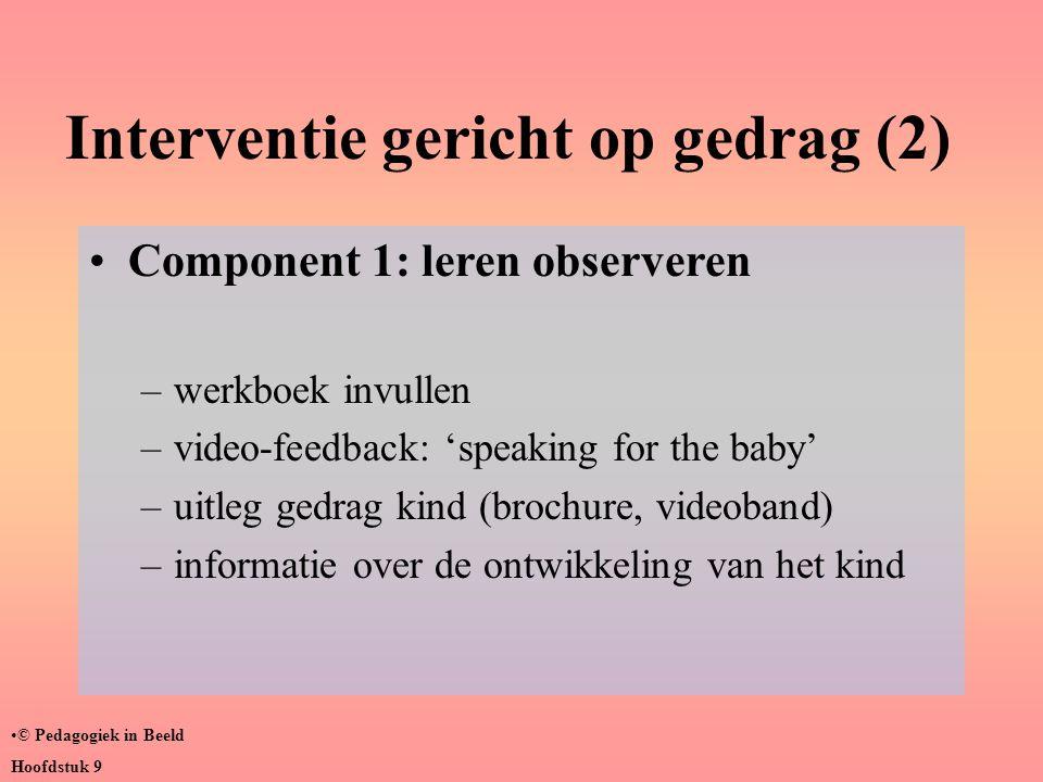 Interventie gericht op gedrag (2)