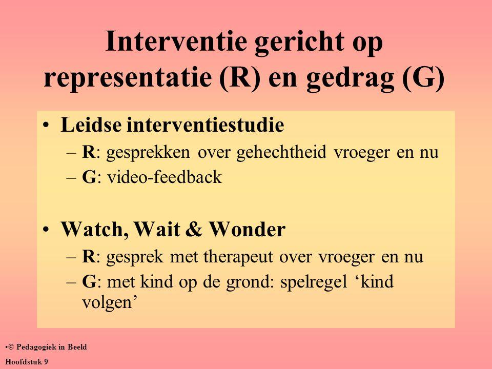 Interventie gericht op representatie (R) en gedrag (G)
