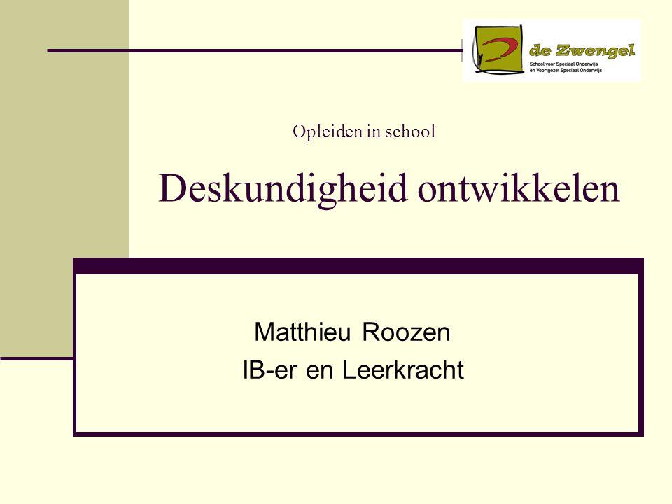 Opleiden in school Deskundigheid ontwikkelen