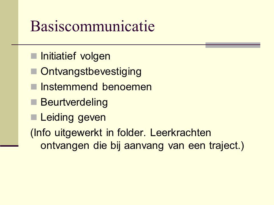 Basiscommunicatie Initiatief volgen Ontvangstbevestiging