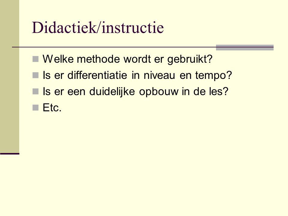 Didactiek/instructie