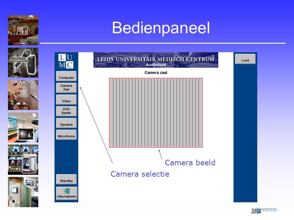 Bedienpaneel Camera beeld Camera selectie