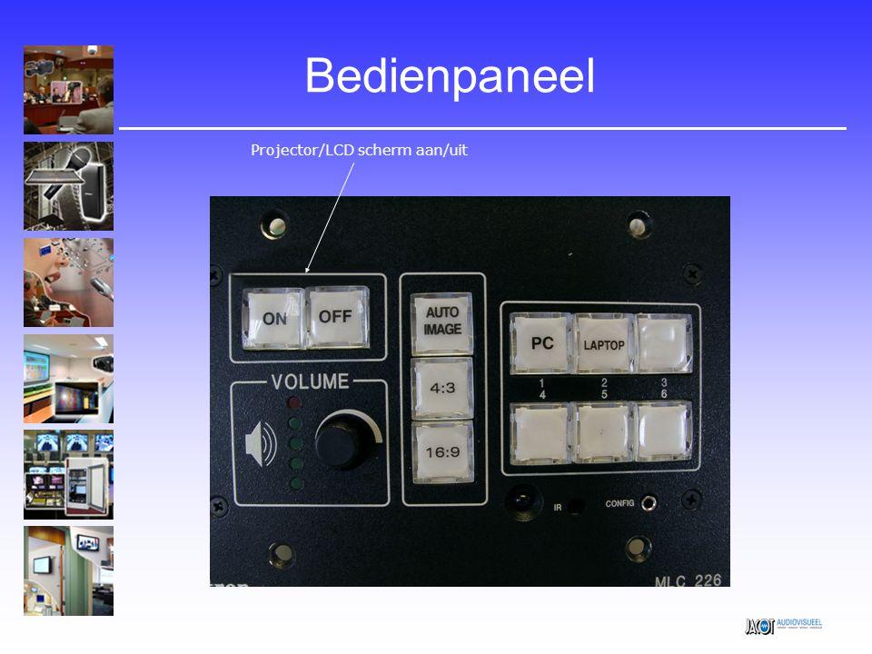 Bedienpaneel Projector/LCD scherm aan/uit