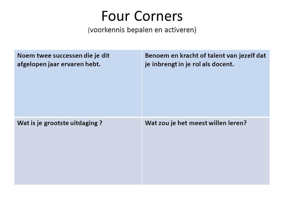 Four Corners (voorkennis bepalen en activeren)