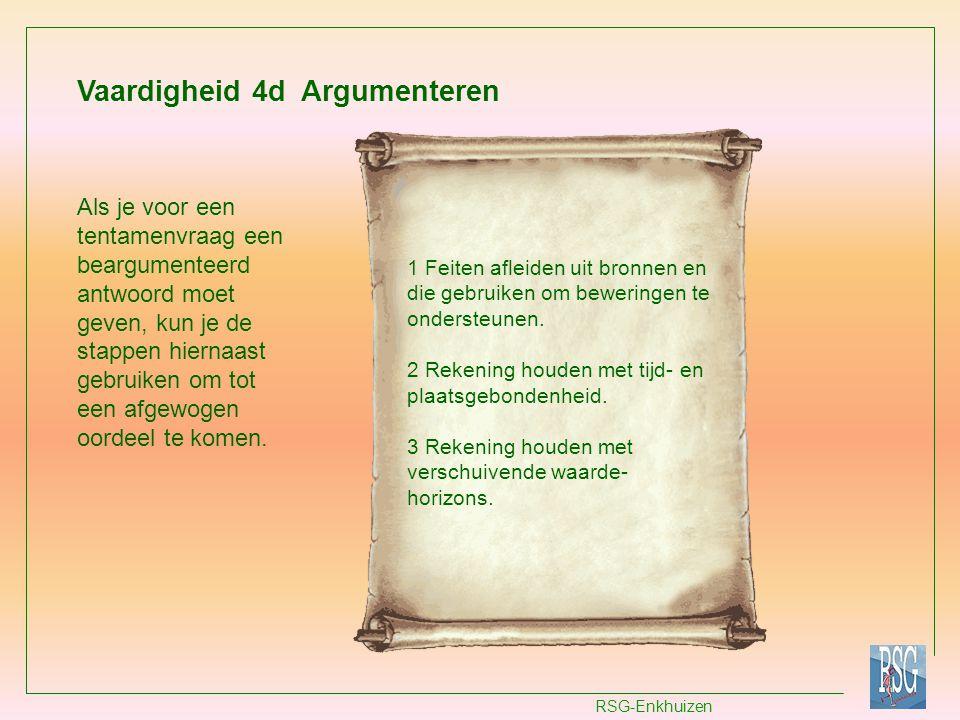 Vaardigheid 4d Argumenteren