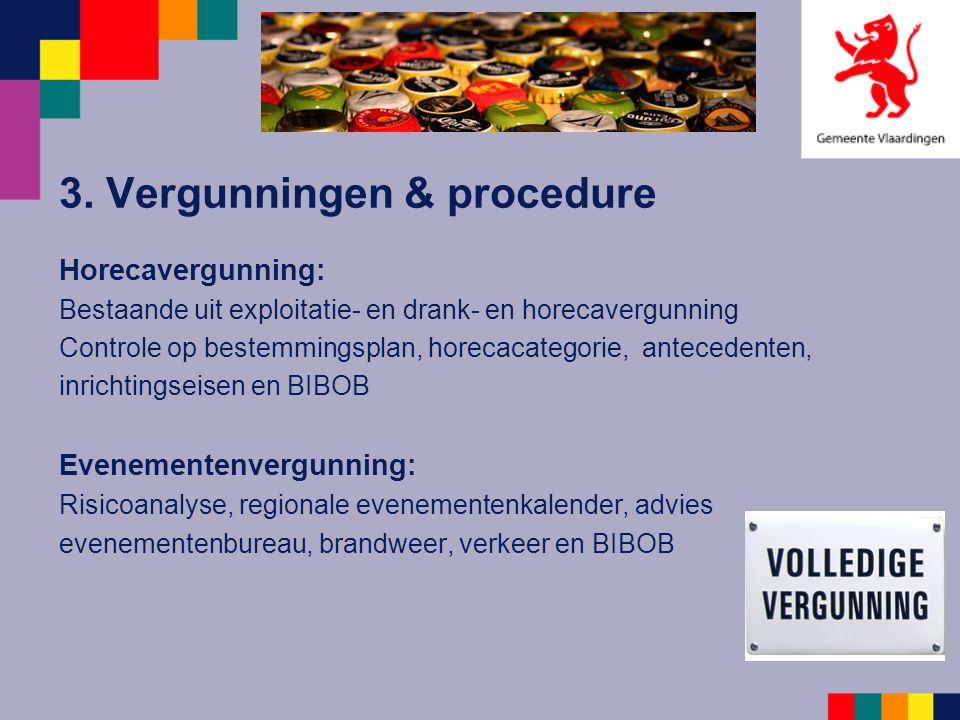 3. Vergunningen & procedure