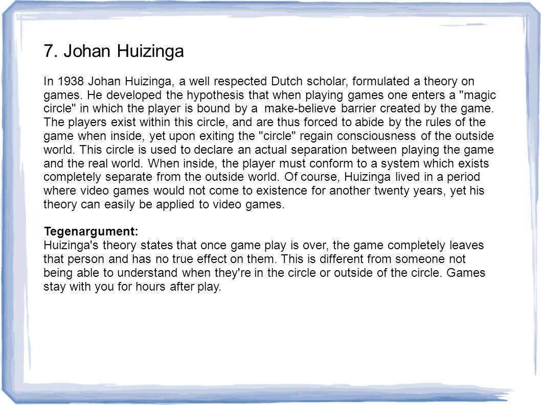 7. Johan Huizinga