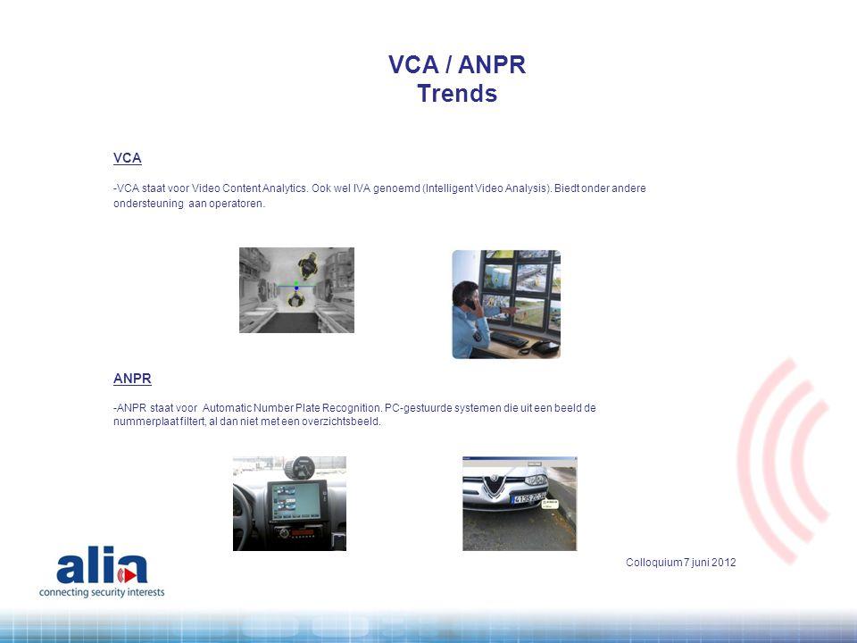 VCA / ANPR Trends VCA ANPR