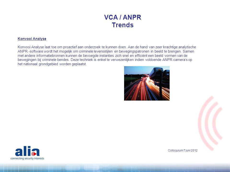 VCA / ANPR Trends Konvooi Analyse