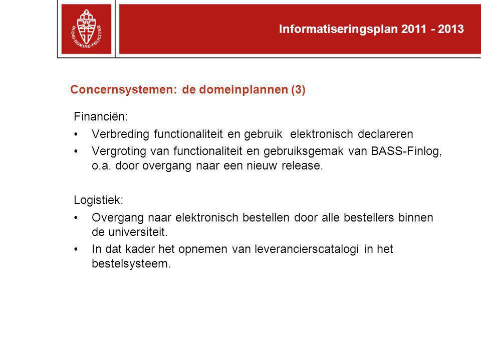Concernsystemen: de domeinplannen (3)