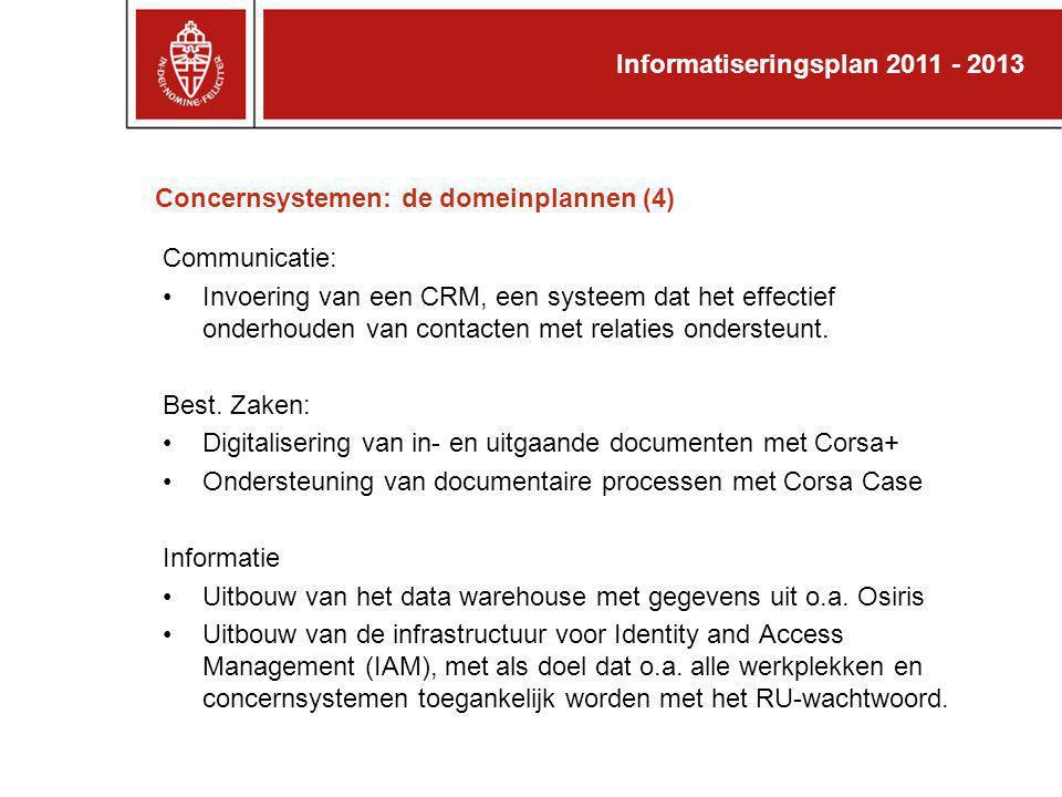 Concernsystemen: de domeinplannen (4)