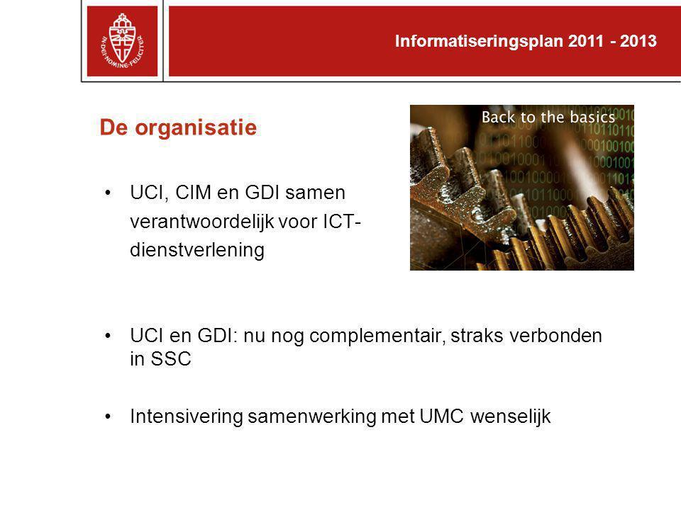 De organisatie UCI, CIM en GDI samen verantwoordelijk voor ICT-