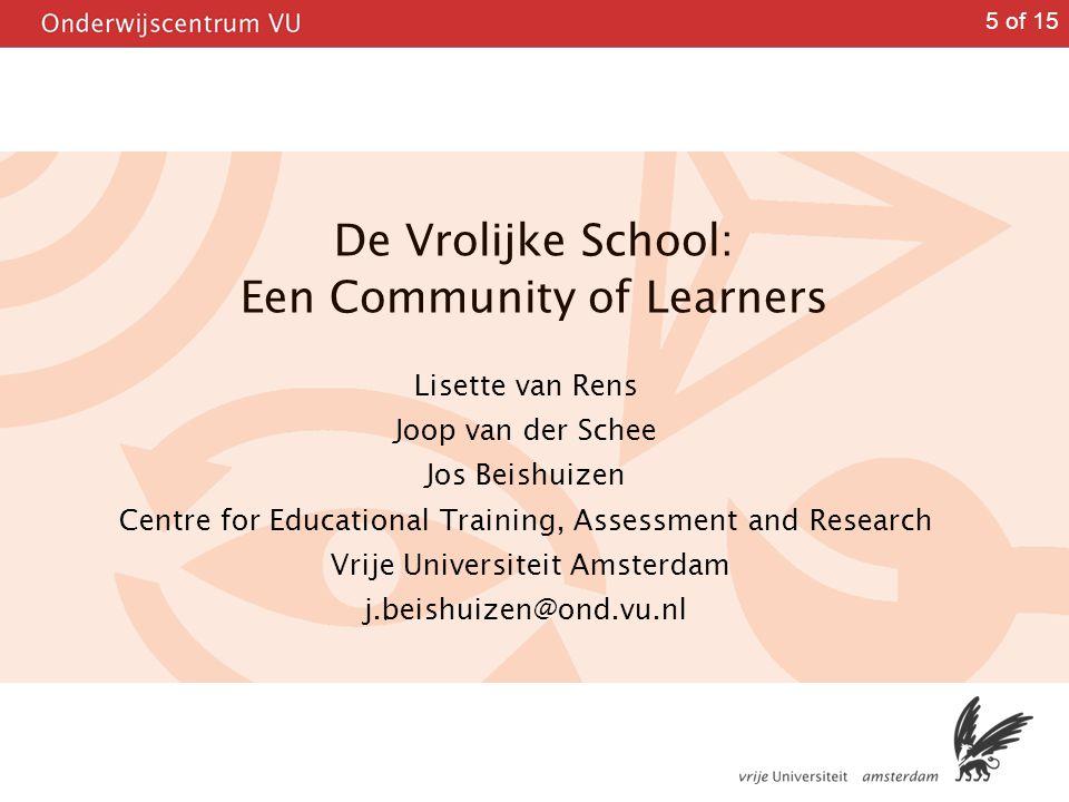 De Vrolijke School: Een Community of Learners