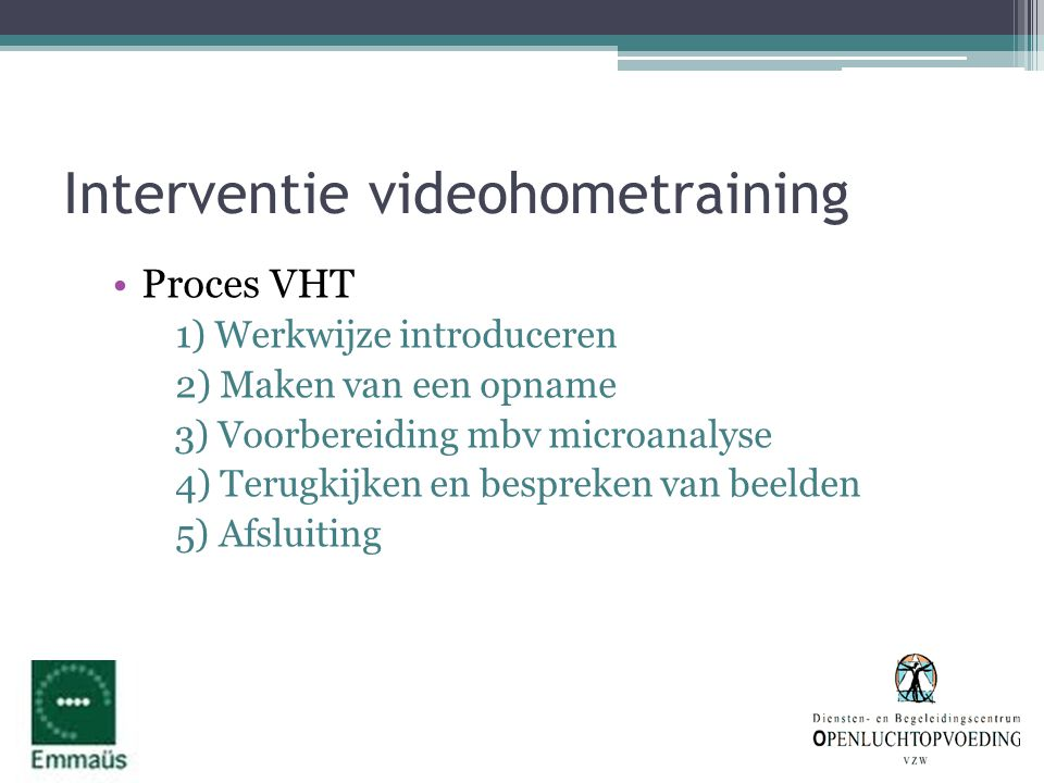 Interventie videohometraining