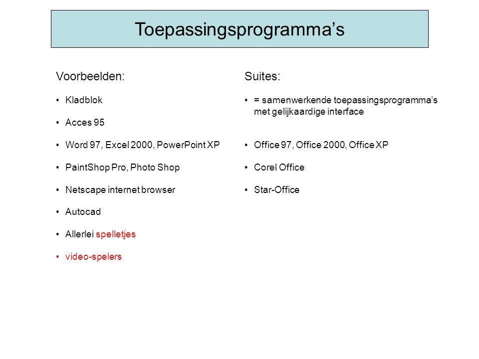 Toepassingsprogramma's