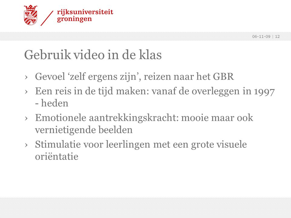 Gebruik video in de klas