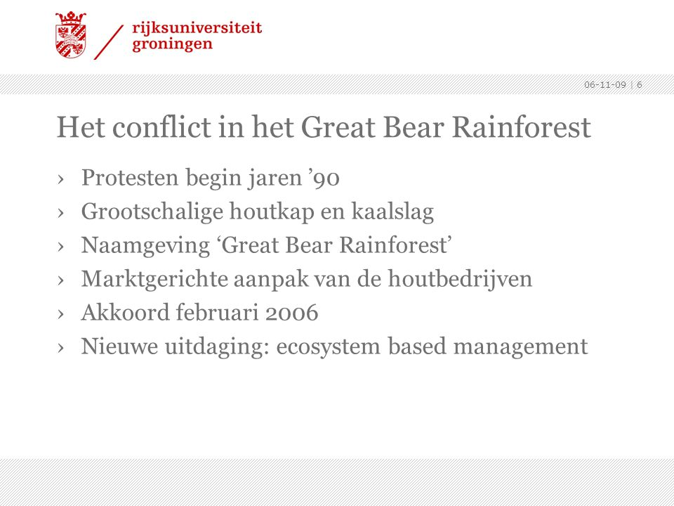 Het conflict in het Great Bear Rainforest