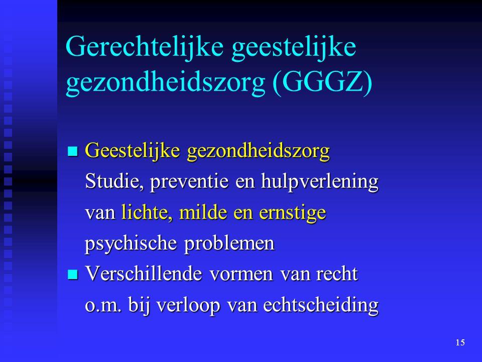 Gerechtelijke geestelijke gezondheidszorg (GGGZ)