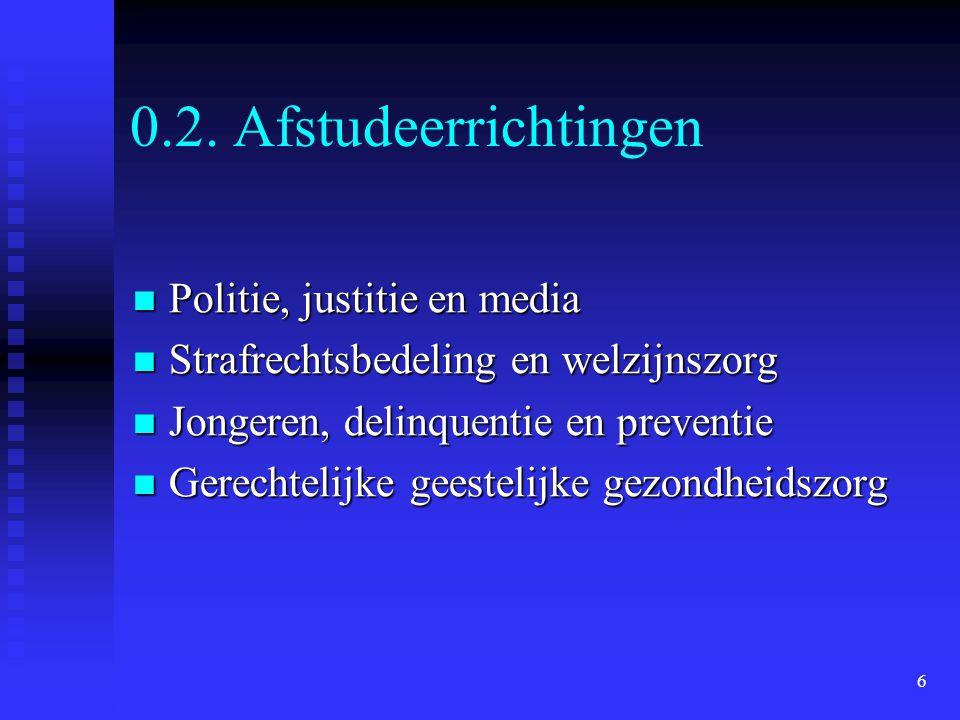0.2. Afstudeerrichtingen Politie, justitie en media