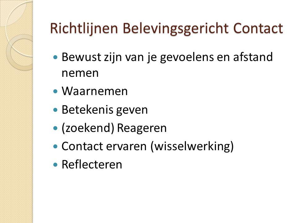 Richtlijnen Belevingsgericht Contact