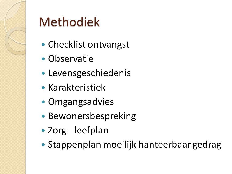 Methodiek Checklist ontvangst Observatie Levensgeschiedenis
