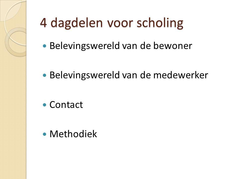 4 dagdelen voor scholing