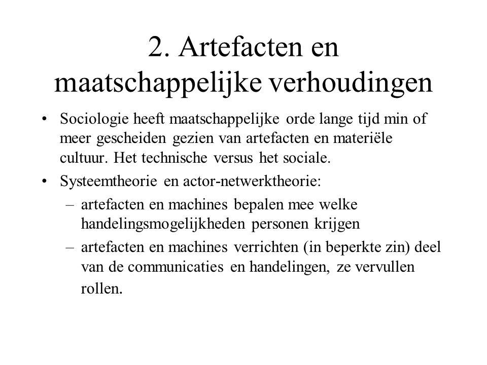2. Artefacten en maatschappelijke verhoudingen