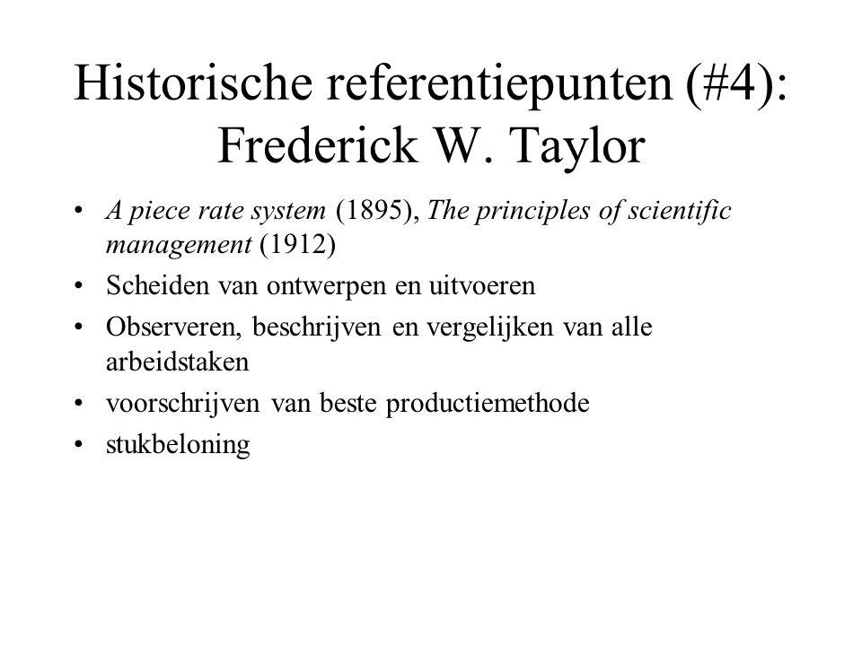 Historische referentiepunten (#4): Frederick W. Taylor