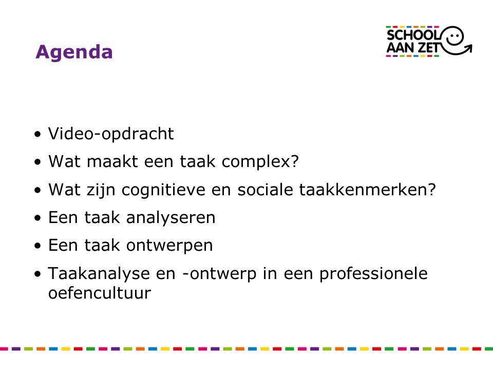 Agenda Video-opdracht Wat maakt een taak complex