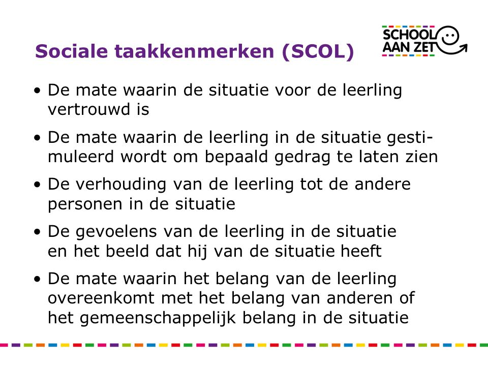 Sociale taakkenmerken (SCOL)