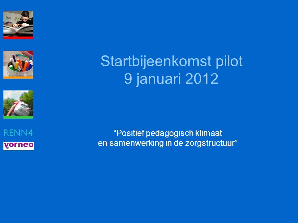 Startbijeenkomst pilot 9 januari 2012