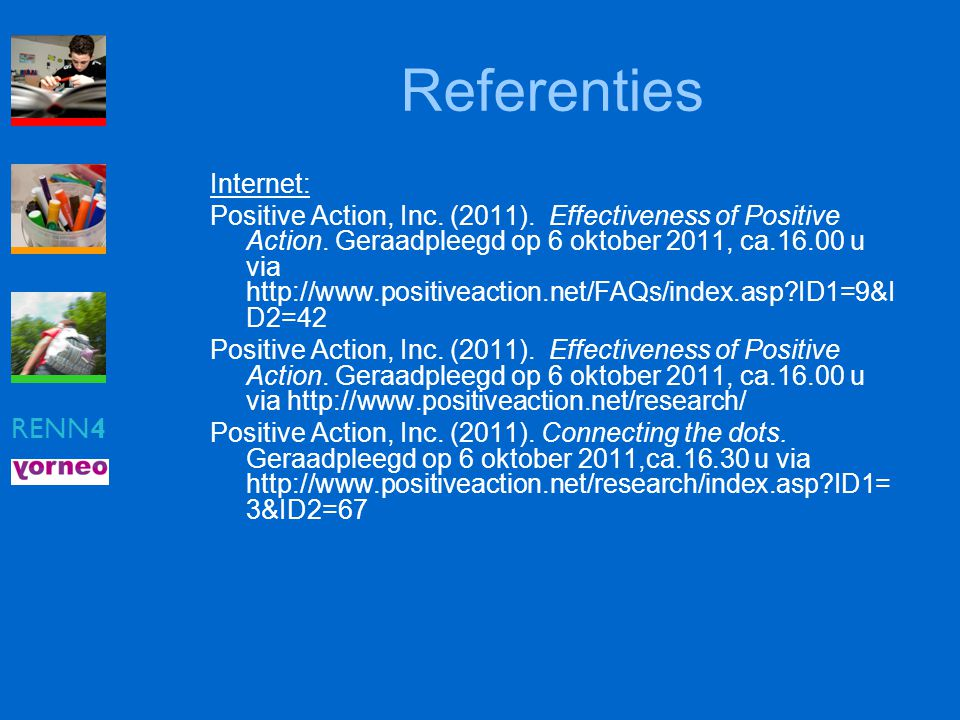 Referenties RENN4 Internet:
