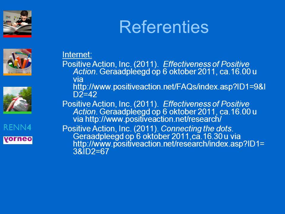 Referenties RENN4 Internet:
