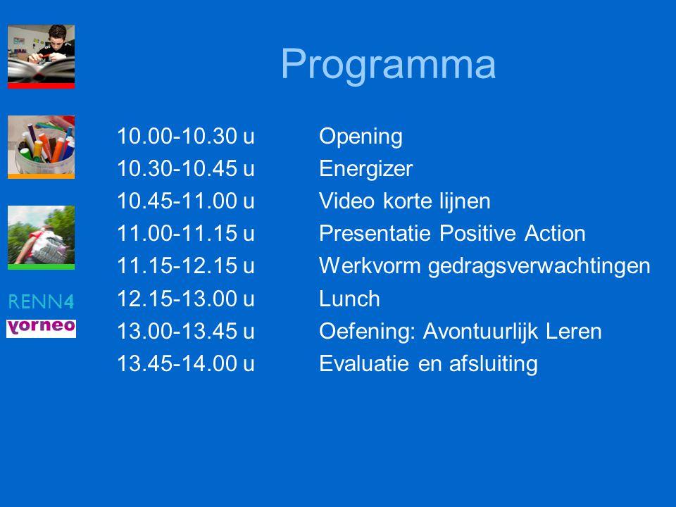 Programma 10.00-10.30 u Opening 10.30-10.45 u Energizer
