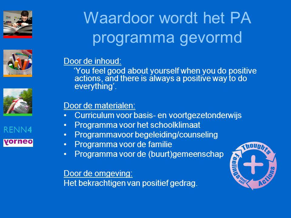 Waardoor wordt het PA programma gevormd