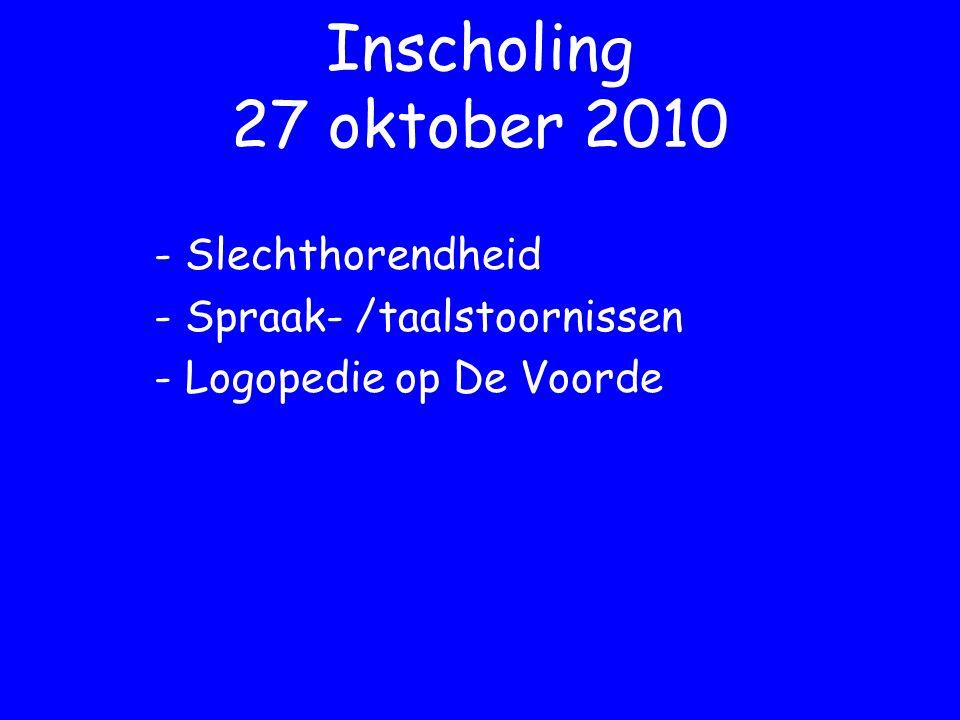 - Slechthorendheid - Spraak- /taalstoornissen - Logopedie op De Voorde